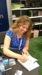 Signing at BookExpo America 2015 in NYC.