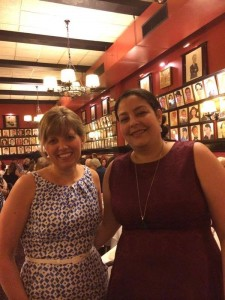RITA dinner with wonderful my editor, Emily Rodmell at Sardi's, NYC.